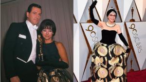 Em 1962, ao lado de Rock Hudson e em 2018, na festa do Oscar. Mesmo vestido, mais exuberância e vitalidade. Como pode? Mais alguns detalhes: MAKE 2018 – leve, bastante natural, sem pancake ou olhos muito maquiados. CABELO – Los Angeles deve ter ficado uns 3 graus mais quentes. A 'chapinha' rolou (ou desenrolou?) em praticamente todas as cabeças, em cabelos super, hiper, mega lisos.